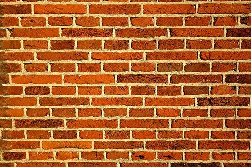 Red Brick Wall, Wall, Bricks, Wall Of Bricks, Structure