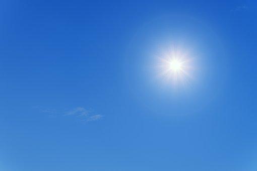 Sun, Summer, Blue, Sky, Partly Cloudy, Sunlight
