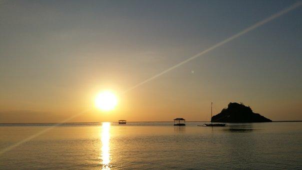 Sea, Glow, Sunset, Beach, Evening Glow, Coastal, Sky