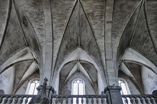 Church, Vault, Architecture, Building, Religion