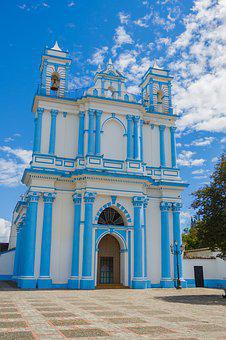 Chiapas, México, Mexico, Architecture, Building, Church