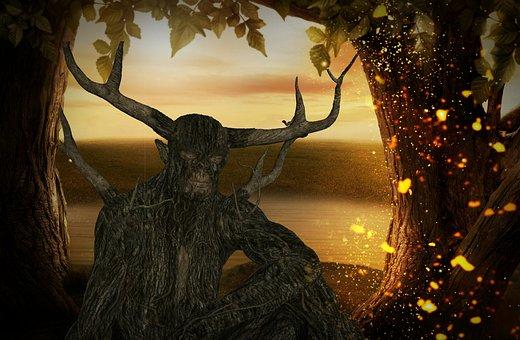 Fantasy, Tree, Boommens, Fairy Tale, Dark, Brown