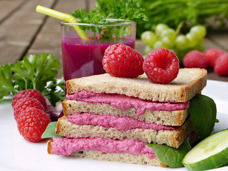 Bread, Sandwich, Beetroot, Spread, Jause, Snack