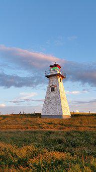 Lighthouses, Pei, Canada, Sunsets