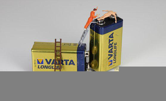 Battery, Energy, Miniature Figures, Current, Recycling