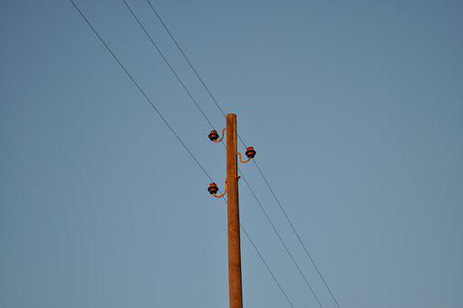 Current, Telephone Pole, Power Line, Energy