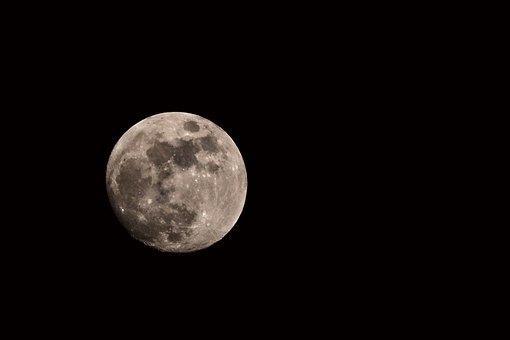 Luna, Light Of The Moon, Night, Sky, Lunar, Dark