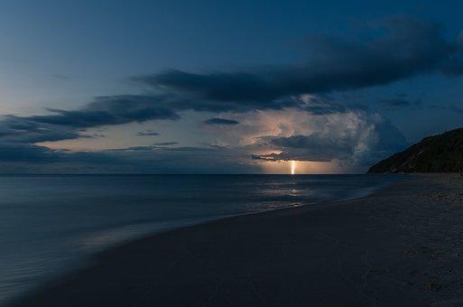 Lightning, Storm, Weather, Night, Dark, Clouds, Nature