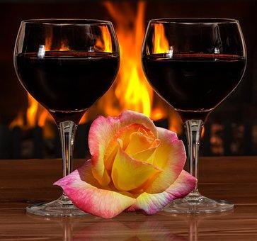 Romance, Cozy, Decoration, Mood, Shining, Fireplace