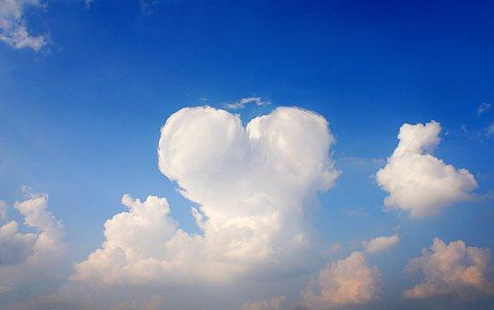 Sky, Clouds, Heart, Nature, Sunset, Weather, Idyllic