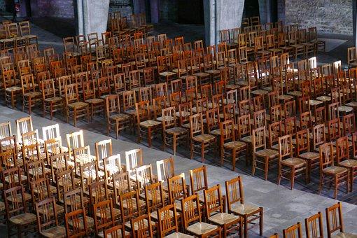 Chairs, Church, Architecture, Religion, Interior