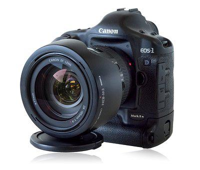 Canon 1d Camera, Digital, Lens, Photography, Isolated