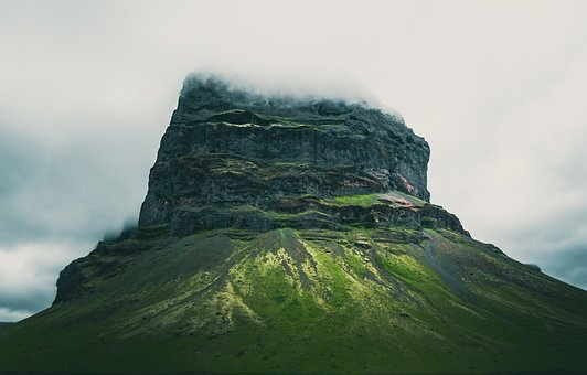 Landscape, Mountain, Iceland, Country, Clouds