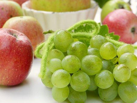 Grapes, Apple, Water, Unsprayed, Left Untreated, Garden
