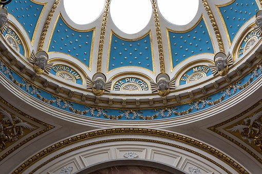 Church, Light Blue, Light, Blue, Religion, Architecture