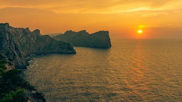 Mallorca, Formentor, Mediterranean, Sea, Sunset