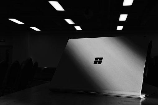 Microsoft, Notebook, Computer, Still Life Photography