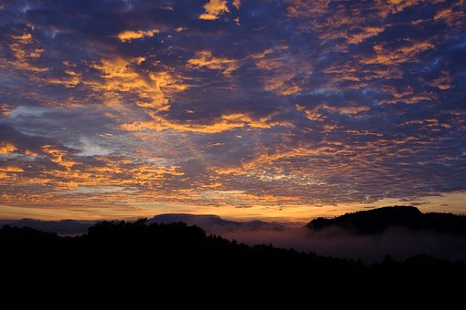 Sunrise, Mountain, Nature, Landscape, Mountains, Sky