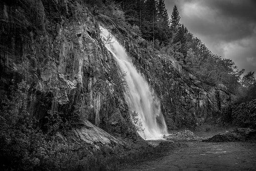Waterfall, Norway, Landscape, Scandinavia, Nature