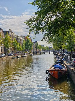 Amsterdam, Boat, Netherlands, Channel, Holland