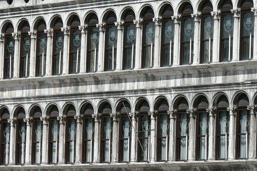 Venice, Palazzo, Front Window, Facade