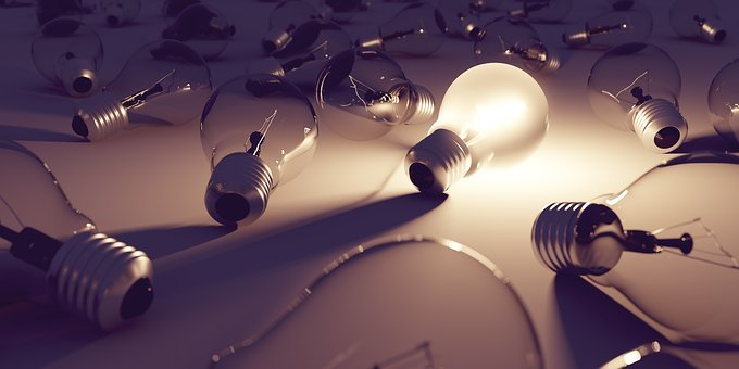 Light Bulb, Idea, Light, Lamp, Energy, Current, Pear