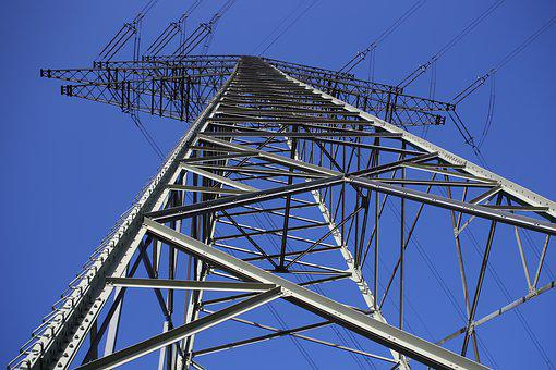 Pylon, Electricity, Current, Energy