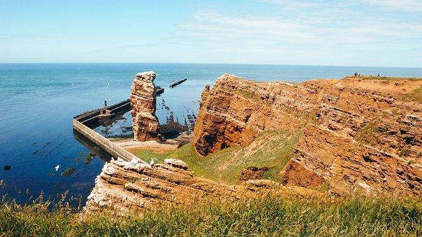 Helgoland, Lange Anna, North Sea, Sea Island, Rock