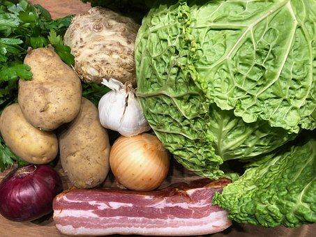 Vegetables, Savoy, Onion, Autumn, Nutrition, Food