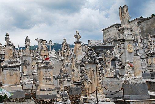 Cemetery, Grave, Death, Tombstone, Statue, Sculpture