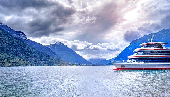 Achensee, Tyrol, Pertisau, Lake, Steamer, Ship