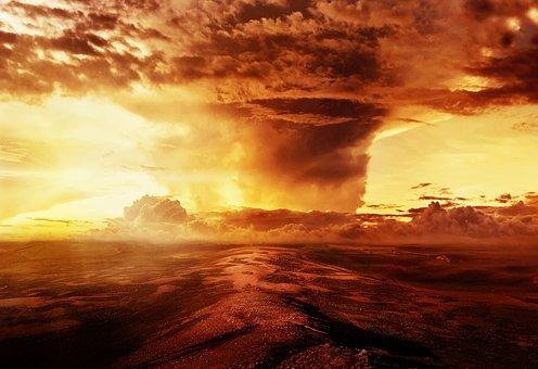 Image Manipulation, Landscape, Clouds, Sky, Sun