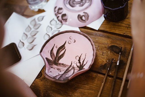 Gzhel, Craft, Mastery, Needlework, Plate, Souvenir