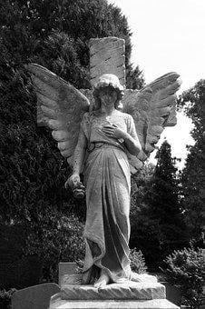 Angel, Death, Grave, Wing, Sculpture, Statue, Cemetery