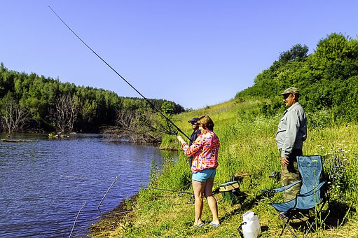 Pond, Fishing, Summer, Rod, Vacation