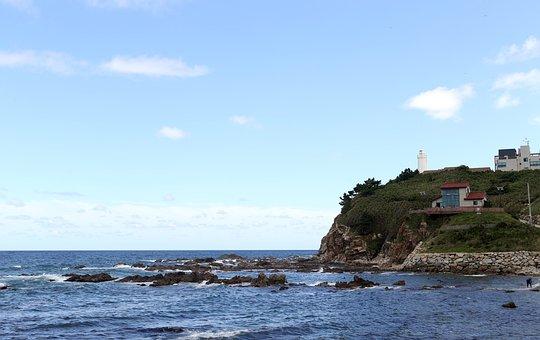 Sea, Hart, Sky, Korea, Waves, Summer, Blue Sea