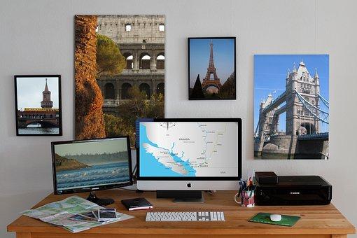 Workplace, Mac, Travel, Photos, Plan, Map, Design