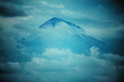 Volcano, Mountain, Landscape, Nature, Clouds, Sky
