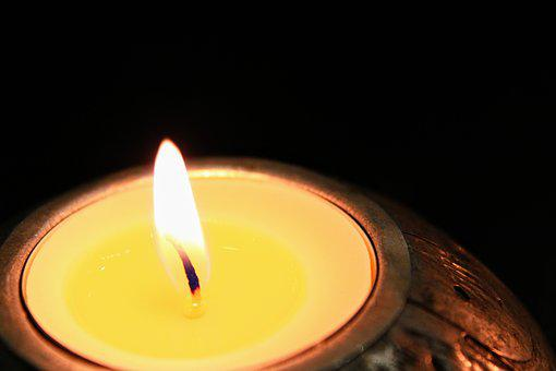 Candles, Tealights, Flame, Light, Dark, Wax