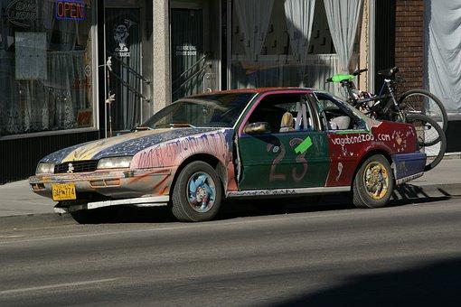 Aultman Street, Ely, Nevada, Funny, Car, Usa, Strange