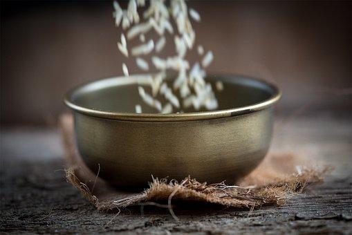Bowl, Brass Bowl, Vessel, Filling, A Trickle, In Motion