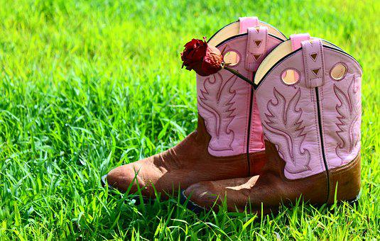 Boots, Leather, Brown, Female, Summer, Outdoor, Pink
