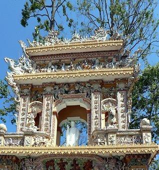 Viet Nam, Temple, Portico, Caodai, Religion