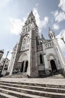 Basilica, Nantes, Grand, Angle, Sunny, Urban, Cathedral