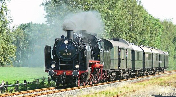 Steam Locomotive, Steam Train, Passenger Train, Classic