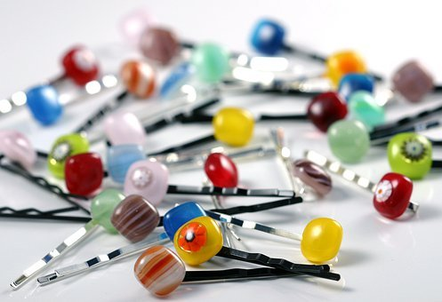 Hairpins, Glass, Fused Glass, Fashion, Colorful