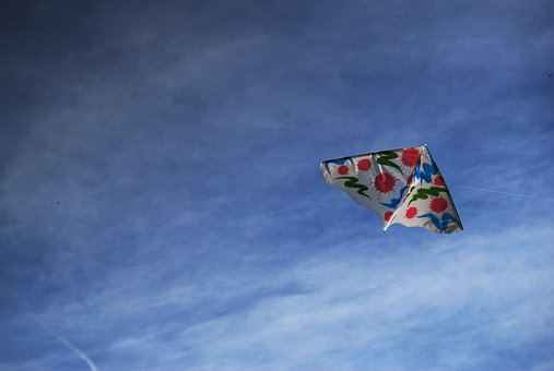 Kite, Sky, Clouds, Nature, Air, Fun, Leisure, Toy