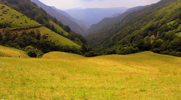 Valle, Prato, Mountain, Green, Landscape, Val Fraselle