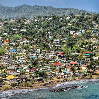 Caribbean, Houses, Tourism, Tropical, Island, Holiday