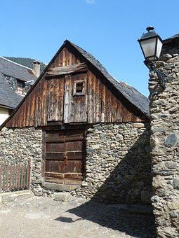 House, Haystack, Vielha, Val D'aran, Pyrenees